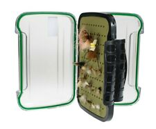 Kingfisher Large Polycarbonate Fly Box with Free Black Stainless Zinger Included