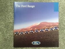 Ford . The Ford Range . October 1998 Sales Brochure in Excellent condition