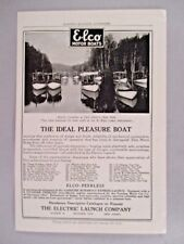 Elco Motor Boat PRINT AD - 1908 ~~ Electric Launch Co.