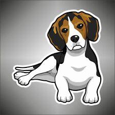 AUFKLEBER decal Spürhund beagle hund Wagen Motorrad STICKER