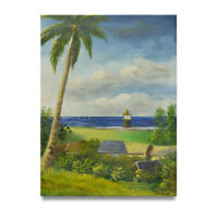 NY Art - Florida Beachfront Landscape 12x16 Original Oil Painting on Canvas!