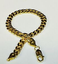 """10k Solid Yellow Gold Miami Cuban Curb Link 8"""" 8 mm 25 grams chain/Bracelet"""