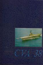 USS SHANGRI LA CVA-38 MEDITERRANEAN DEPLOYMENT CRUISE BOOK YEAR LOG 1967-68