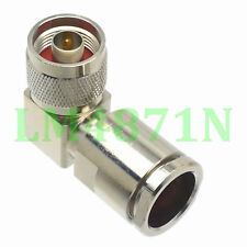 1pce Connector N male plug 90° clamp Lmr600 Rfc600 cable right angle