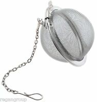 "Tea Infuser Ball Mesh Loose Leaf Herb Strainer Stainless Steel Secure Locking 2"""