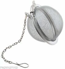 Tea Infuser Ball Mesh Loose Leaf Herbs Strainer Reusable Steel Secure Locking
