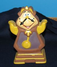 BEAUTY AND THE BEAST COGSWORTH THE GRANDFATHER CLOCK DISNEY VINTAGE RUBBER TOY
