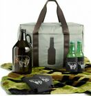 Tailgate Kit 7-Piece Thermal Cooler Duffel Bag Camo-Blanket Beer-Growler Koozies