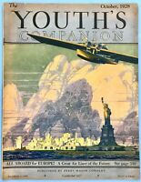 YOUTH'S COMPANION MAGAZINE October 1928  ~ Many Articles, Pictures & Ads