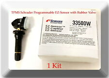 TPMS Schrader Programmable EZ-Sensor with Rubber Valve 33500 Fits: All Vehicles