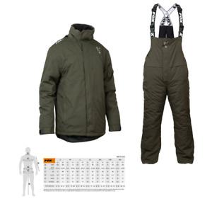 Fox Carp Green & Silver Winter Suit New Version Carp Fishing Thermal Suit