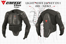 New Dainese Light Wave Jacket D1 Length 1 Mx Safety Jacket Black Size Xs