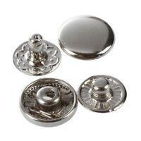 50X Set Botones de Presion Cierre Metal FornitUnas para Pulsera S2A8