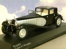 EXCELLENT 1/43 WHITEBOX 1928 BUGATTI TYPE 41 ROYALE EN NOIR ET ARGENT WB221