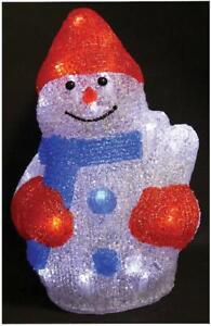 LED Acrylic Christmas Snowman Light Up Xmas Lighting Decoration
