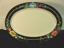 "VILLEROY & BOCH XENIA OVAL SERVING PLATTERS - ONE 17"" AND ONE 14"" 90-100 VALUE"