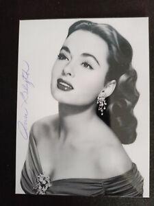 """Ann Blyth """"USA"""" original Autogramm - signed"""