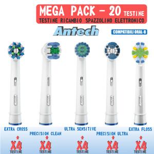 20 x Testine di ricambio compatibile per spazzolino elettrico Oral B