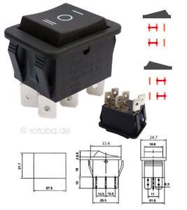 Wipptaster ON-OFF-ON Schalter Einbauschalter nicht-einrastend Einschalter #97