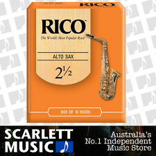 Rico Alto Sax Eb Saxophone 10 Pack Reeds Size 2.5 (2 1/2 - Two and a Half) 10PK