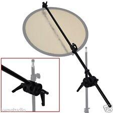 BA01D Doble Abrazadera Brazo De Soporte De Titular De Reflector Extensible Studio auge de brazo