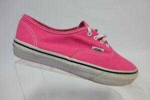 VANS Authentic Pink Sz 3.5 Kids Low-Top Skate Shoes
