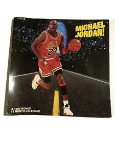 Michael Jordan 1993 A Bonus 16 Month Calendar Poster Chicago Bulls Cleo