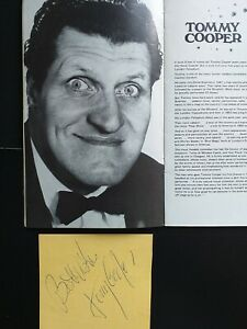 TOMMY COOPER early  Signed page from  British Comedy super star  Superb