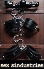 bondage kit gag Chained back wrist cuff ankle cuffs shackle restraints fetish