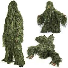 Adult Military 3D Woodland Camouflage Outdoor Shooting Ghillie Suit Set Stealth