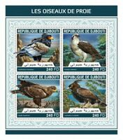 Djibouti - 2018 Birds of Prey - 4 Stamp Sheet - DJB18209a