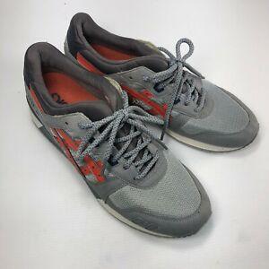Asics Gel Lyte 3 H63BN Grey Orange Six Eye Lace Up Mens Casual Sneakers Sz 11