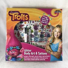 Cra-Z-Art Dreamworks Trolls Glitter Fashion Body Art & Tattoos Kit  250+ Designs