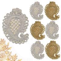 Pearl Beaded Applique Motif Edging Trim Mirrors Design Patch Wedding 65mm Wide