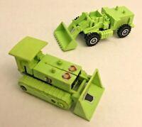 2pc Bonecrusher & Scrapper Devastator 1985 Vintage Hasbro G1 Transformers Figure