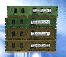 LOT OF 4x 2GB (8GB) 1Rx8 PC3-10600R Server Ram M393B5773CH0-CH9