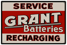 Grant Batteries Gas Station Reproduction Garage Metal Sign - 18 x 30 RVG156
