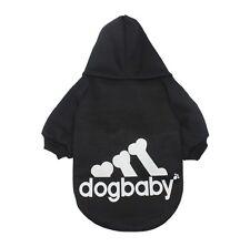 Hundebekleidung Hundeshirt Pullover Hoodie Dogbaby Schwarz Gr. M Kapuzenpulli