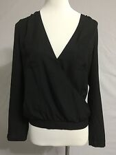 NEW Urban Outfitter Sparkle And Fade Black Blouse Tunic Pullover Top Size M 8-10