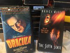 Dracula, And The Sixth Sense Vhs movies.
