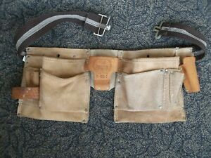 Rooster Products Suede Leather Carpenter Pro Tool Pouch Belt R-499-2 Hammer Nail