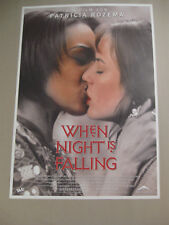 WHEN NIGHT IS FALLING - Poster Plakat Filmplakat gerollt - Patricia Rozema