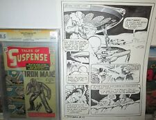 Space: 1999 ORIGINAL ART Vincente Alcazar Charlton Sci-Fi Battle Page 1975 B/W