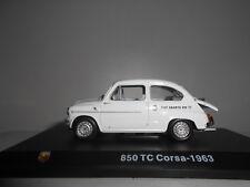 FIAT ABARTH 850 TC 1963 ABARTH COLLECTION HACHETTE 1:43 + HARD BOX