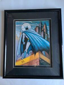 Batman and Me Bob Kane Lithograph Framed Limited Ed. 1055/2500 COA Warner Bros