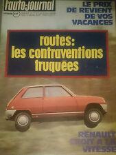 L'AUTO JOURNAL 1974 6 INNOCENTI MINI 1001 FIAT 132 GLS MERCEDES 450 SE GENEVE