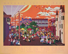 S/O Melanie Taylor Kent Art Portraits in the Park New Orleans Print Signed! UF