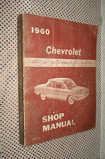 1960 CHEVY CORVAIR SHOP MANUAL ORIGINAL SERVICE BOOK OEM REPAIR