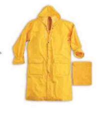 impermeabile con cappuccio cappotto GIALLO antipioggia antivento HH302 tg M