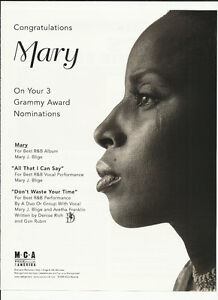 MARY J. BLIGE All that I can Say / Don't waste Trade AD POSTER for 1999 CD J